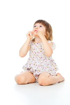 Beautiful Little Girl In A Dress Royalty Free Stock Photography