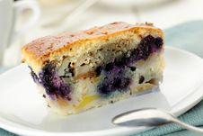 Free Blueberry Pie Slice Royalty Free Stock Photo - 27298685