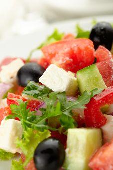 Free Greek Salad Royalty Free Stock Photography - 27298827
