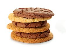 Oat Cookies And Chocolate Cookies Stock Images