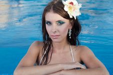 Free The Beautiful Girl In Pool Stock Photo - 27299010