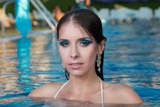 Free The Beautiful Girl In Pool Stock Photos - 27299263