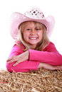 Free Girl In Pink Cowboy Hat Royalty Free Stock Photo - 2732185