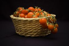 Free Pachino S Tomato In A Basket Royalty Free Stock Image - 2730346