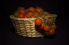 Free Pachino S Tomato In A Basket Royalty Free Stock Image - 2730366