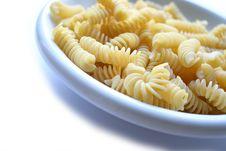 Dish Of Pasta Fusilli Stock Photos