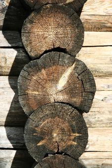 Free Logs In The Wall Stock Photos - 2731163