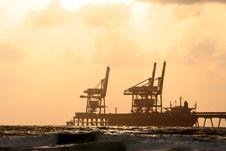 Free Port  On Sundown Stock Photos - 2731813