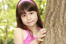 Free Girl Near The Tree Royalty Free Stock Image - 2731846