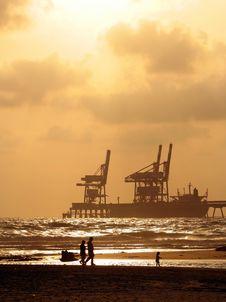 Free Port  On Sundown Stock Images - 2731914