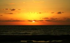 Sundown Sun Givat Olga Royalty Free Stock Photo