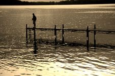 Free Dock And Fisherman Stock Photos - 2733023
