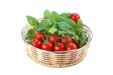 Free Tomatoes And Basil Stock Images - 2733204