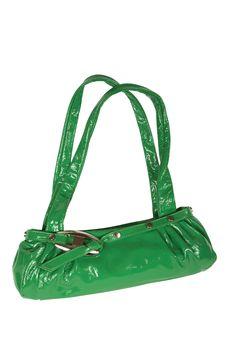 Green Female Bag Royalty Free Stock Photos
