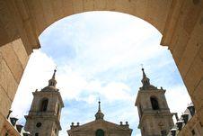 Door To Basilica In Escorial Stock Photos