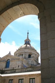 Dome Of Basilica Of Monastery Royalty Free Stock Photography