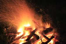 Free Camp Fire, Flame And Sparks Stock Photos - 2735043