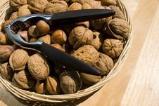 A Basket Of Nuts Royalty Free Stock Photo