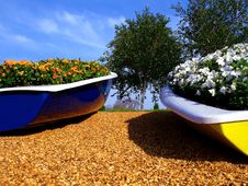 Free Flower Boats Stock Images - 2735304