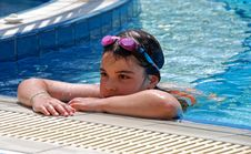 Free Girl Swimming Pool Stock Images - 2735554