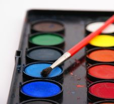 Free Watercolors With Brush Royalty Free Stock Images - 2737259