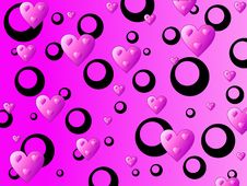 Free Pink Hearts Background Stock Photos - 2737533