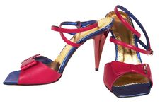 Color Female Shoes Royalty Free Stock Photo
