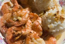Free Shrimps And Rice Royalty Free Stock Photos - 2738898