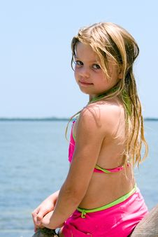 Free Girl At Waterfront Stock Photo - 2739190