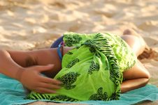 Free Covered Sun Tan Royalty Free Stock Photos - 2739418