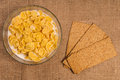 Free Bowl Of Cornflakes With Milk Stock Images - 27304424