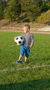 Free Small Boy Waiting With His Soccer Ball Stock Images - 27304804