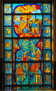 Free Stained-glass Window. Made In USSR Stock Photos - 27308153