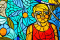 Free Stained-glass Window. Made In USSR Royalty Free Stock Image - 27308176