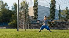 Free Young Little Goalie Stock Photo - 27304010