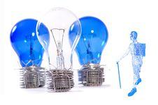 Techno Wire Man Stock Image