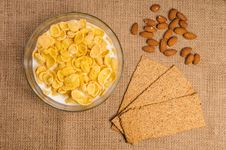 Free Bowl Of Cornflakes With Milk Stock Images - 27304454