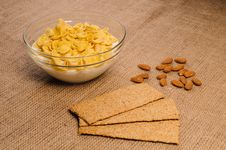 Free Bowl Of Cornflakes With Milk Royalty Free Stock Photo - 27304455