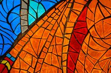 Stained-glass Window. Made In USSR Stock Photography