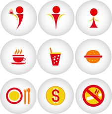 Free Cafe, Bar, Restaurant Icon Royalty Free Stock Photo - 27308735