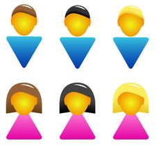 Free Men And Woman Icon Stock Photo - 27308740