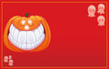 Free Halloween Pumpkin Smiling Card Royalty Free Stock Photo - 27310075