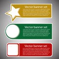 Free Winter Web Banners 3 Colors Stock Image - 27318131