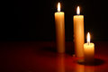 Free Candles On Dark Royalty Free Stock Images - 27319819