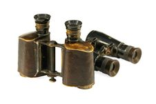 Free Two Old Binoculars Stock Images - 27311884