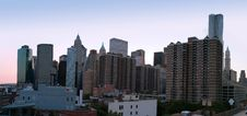 Free Manhattan Panorama At  Twilight Royalty Free Stock Photography - 27312327