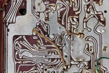 Free Old Radio Circuit Board Royalty Free Stock Image - 27312866