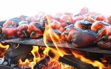 Free Red Peppers On Grill Traditional Royalty Free Stock Photo - 27313565