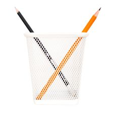 Free Not Like You &x28;Two Pencils In The Metallic Box&x29; Stock Photo - 27318710