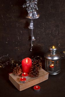 Free Christmas Decoration With Candles Royalty Free Stock Photography - 27319177